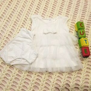Cherokee White Dress w/ Diaper Cover